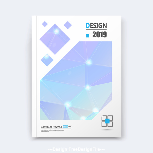 Light blue background brochure design vector