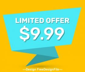 Limited offer tag vector
