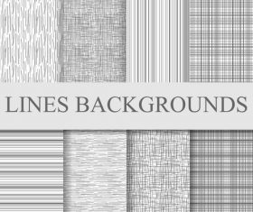 Lines backgrounds seamless patterns vector