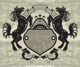 Loshad heraldic vector