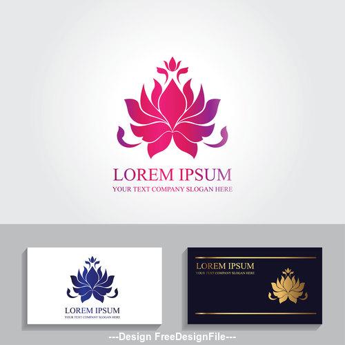 Lotus business card logo design vector