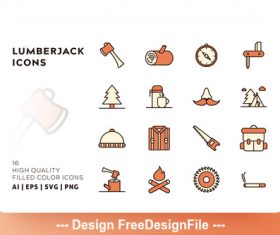Lumberjack filled color vector