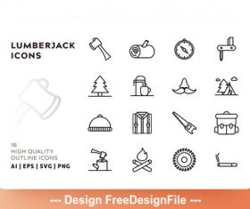 Lumberjack outline vector