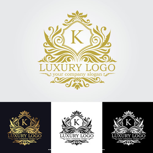Luxury logo design vector
