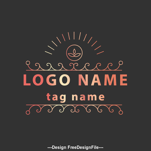 Luxury logos vector