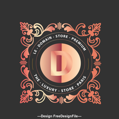 Luxury monograms and logos D in vector