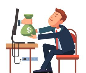 Make money cartoon vector