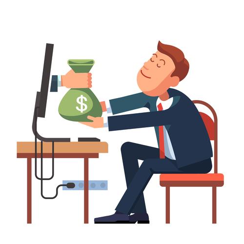 Make money cartoon vector