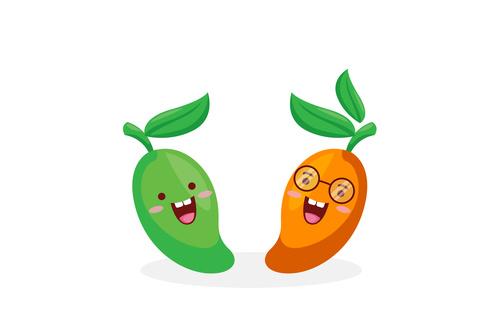 Mango funny cartoon emoticon vector