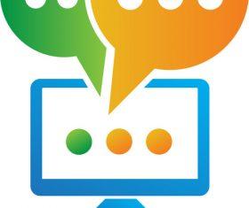 Media Chat Logo vector