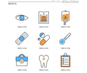 Medical abstract icon vector