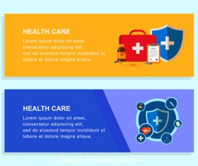 Medical health care banner design vector
