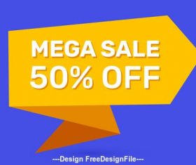 Mega sale tag vector