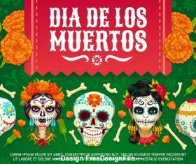 Mexico Dias de Los Muertos cartoon vector