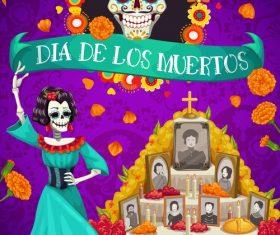 Mexico Dias de Los Muertos vector