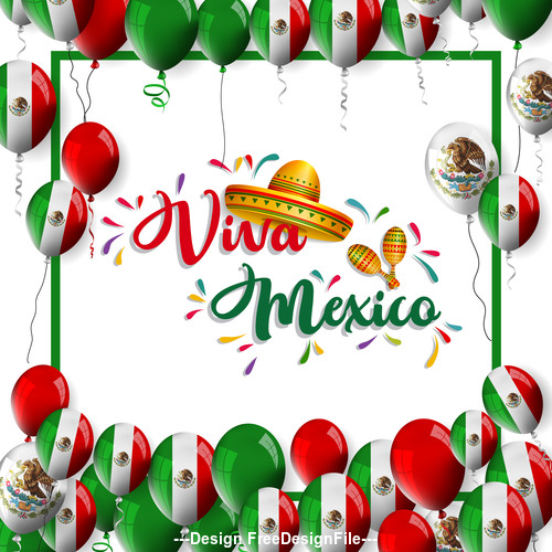 Mexico National Day Celebration Card vector