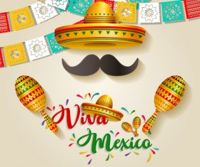 Mexico national day illustration vector