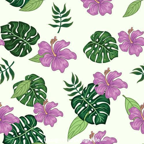 Mix flower and leaf Patterns set vector