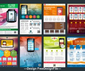 Mobile phone sales design template vector