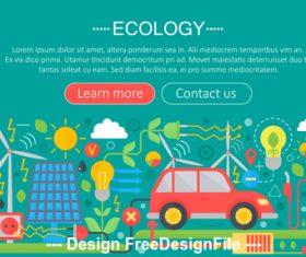 Modern ecology flat design concept vector