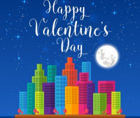 Modern romantic happy valentine card vector
