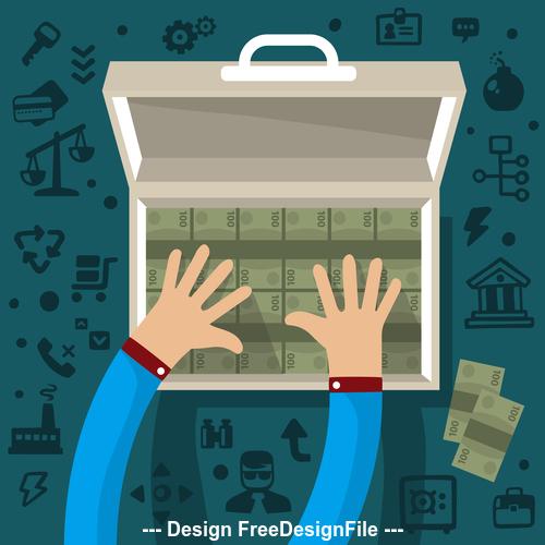 Money concept infographics vector