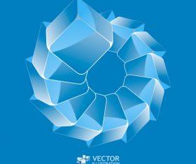 Monogram blue background vector