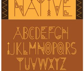 Native font vector