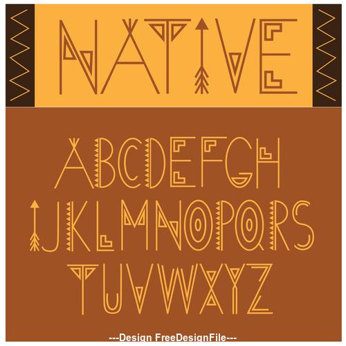 Native font vector