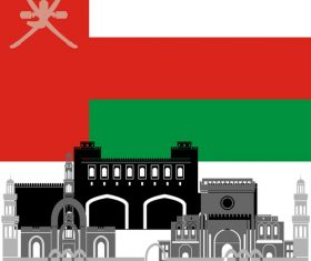 Oman collection of different architecture vector