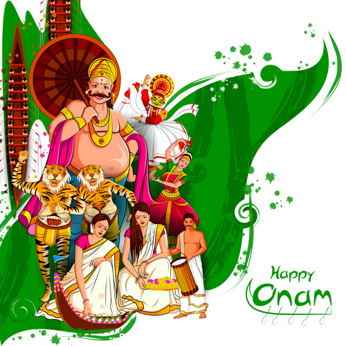 Onam Indian traditional vector