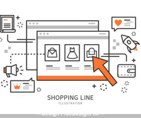 Online Shopping Illustration vector