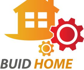 Orange Buid Home Logo vector