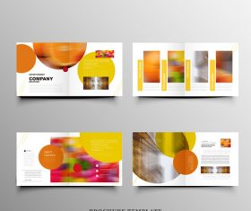 Orange background design brochure vector