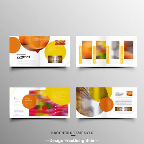 Orange background design brochure vector