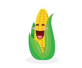 Organic food corn cartoon vector