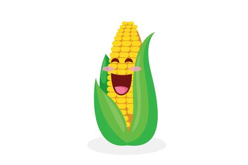 Organic food corn cartoon vector
