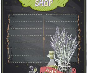 Organic shop vector