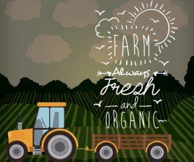 Orgasnic farm illustration vector