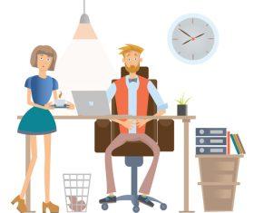 Overtime work cartoon vector