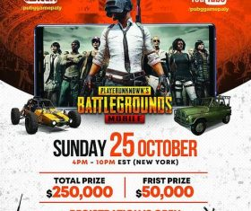PUBG Gaming Event flyer psd template