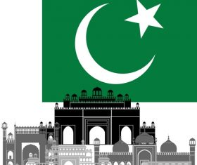 Pakistan collection of different architecture vector