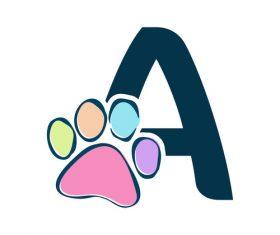 Paws font vector alphabet A