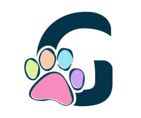 Paws font vector alphabet G