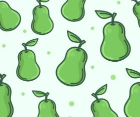 Pear background seamless pattern vector
