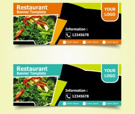 Phone order food banner template design vector