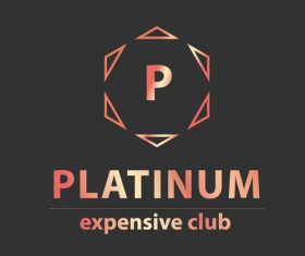 Platinum expensive club logos in vector