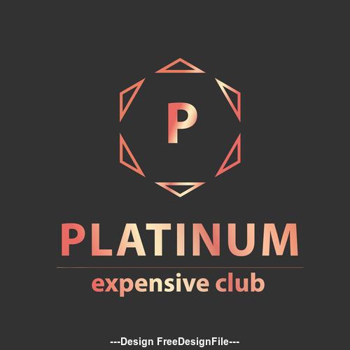 Platinum expensive club logos in vector