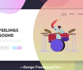Playing drums people vector