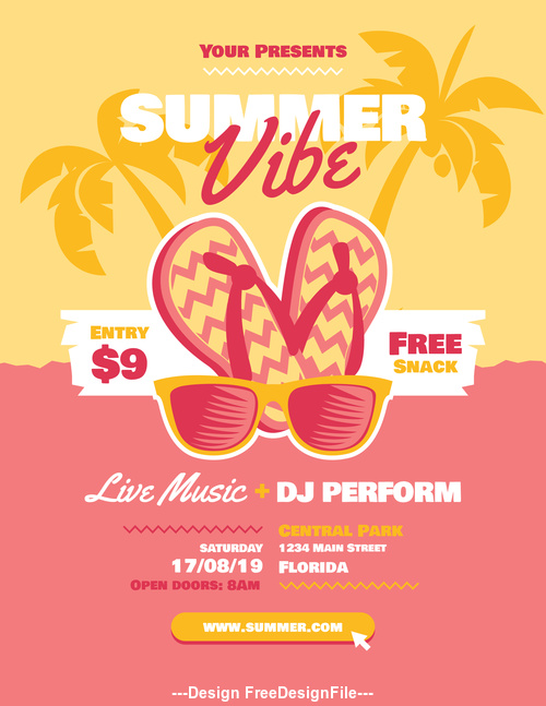 Poster Summer Beach Party vector